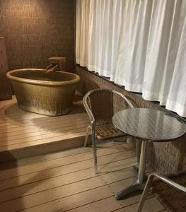 露天風呂付き客室、サイコー!!